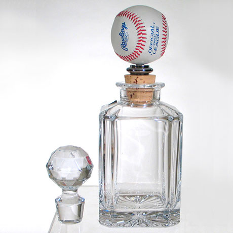 J o collection baseball whiskey decanter wholesale for Wine cork replacement